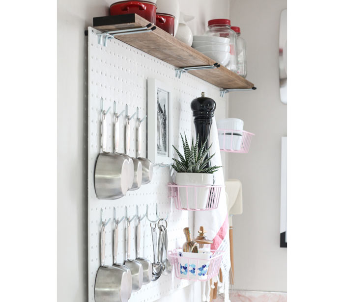 Organizador de parede para cozinhas pequenas planejadas