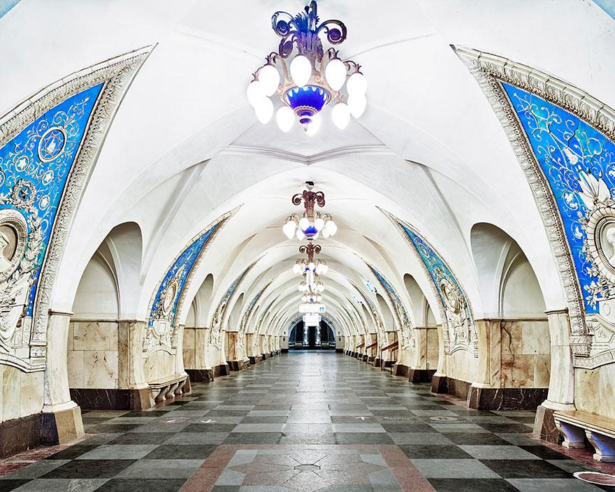 Estação Taganskaya do metrô de Moscou, construída em 1950.