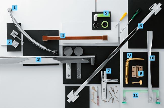 1. De aço inox escovado, a alça SPH 060 é indicada para portas de m...