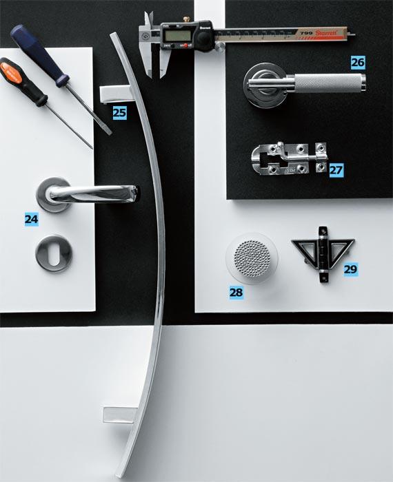 24. Conjunto 855, que inclui maçaneta feita com liga de alumínio e z...