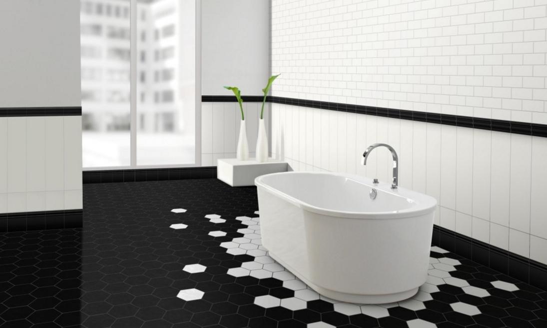 banheiro-de-piso-de-hexagonos-com-preto-e-branco-que-parece-poca-Metro Tiles