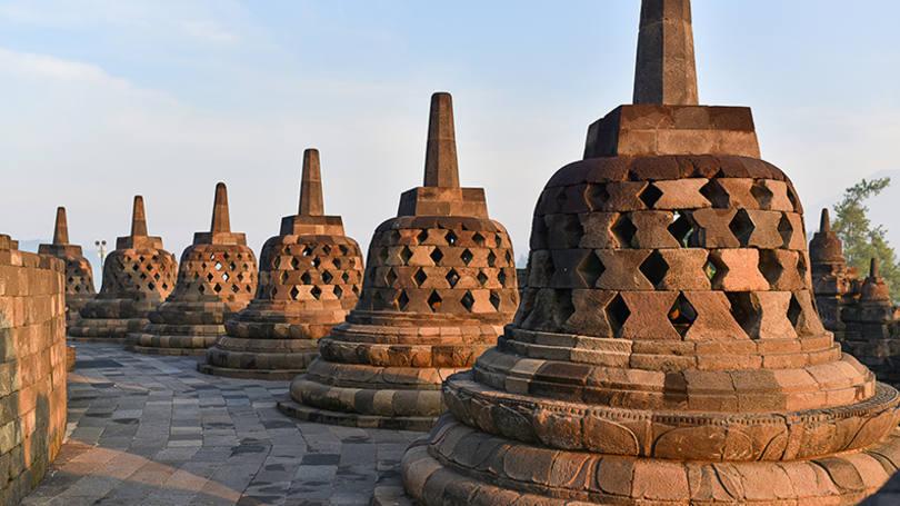 Borobudur, na Indonésia