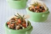 Legumes e parmesão temperam a polenta, sugestão de Mônica (