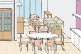 destaque-decoracao-de-sala-e-cozinha-mescla-moveis-novos-e-usados