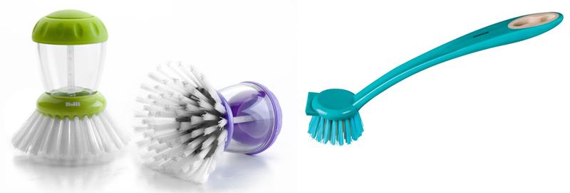 escovas-para-lavar-a-louça-brinox-e-ibili-dispenser-de-detergente