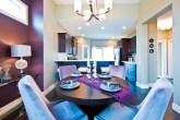 sala-de-jantar-roxa-Sticks and Stones Design Group Inc