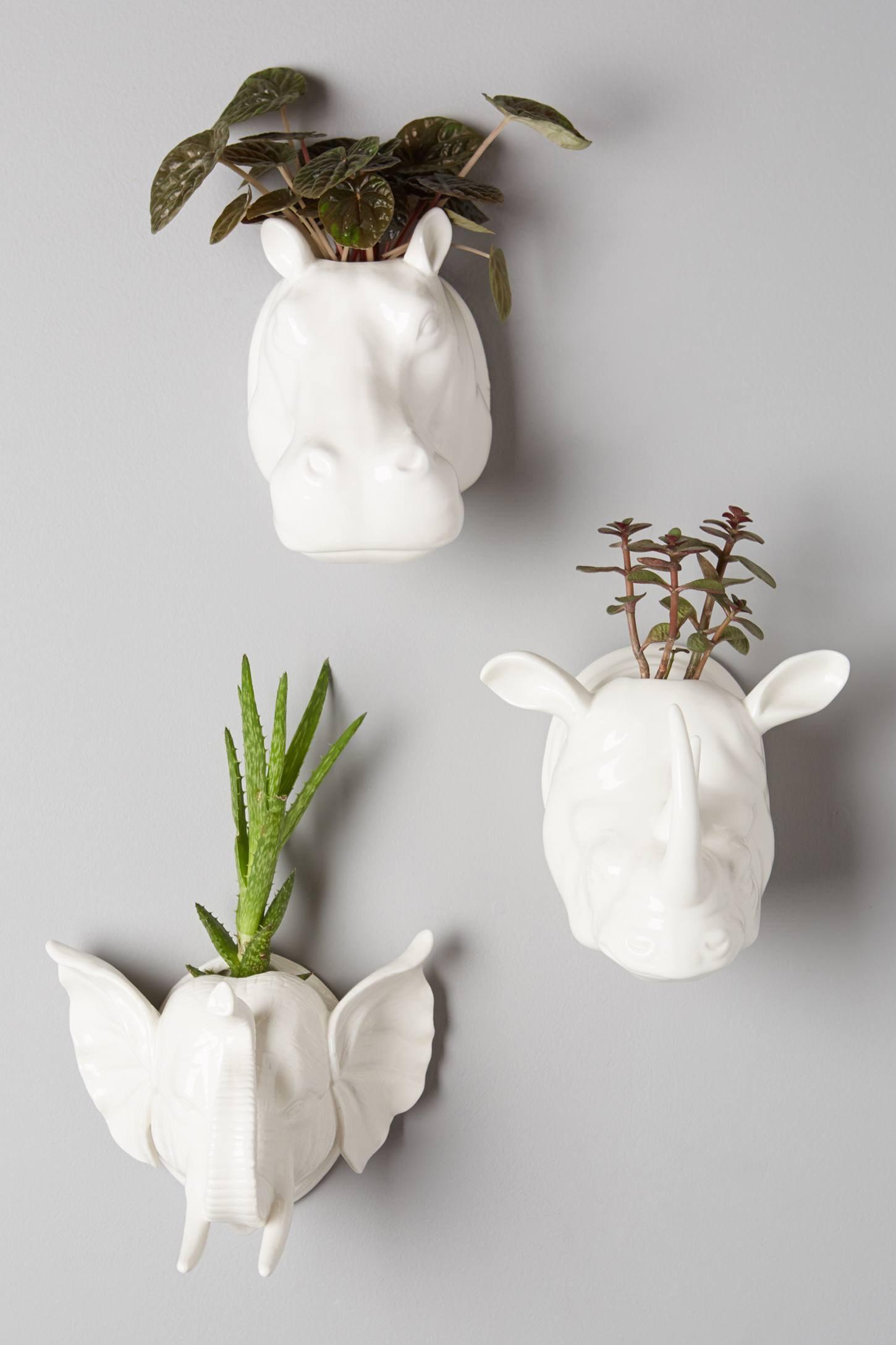 vasos-de-parede-brancos-cabeca-de-animal