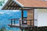 Neste projeto, o arquiteto Mauro Munhoz usou cobertura de duas águas com tel...