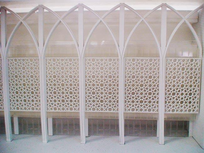 Detalhe da maquete da Universidade Princesa Nora Bint Abdulrahman apresentada...