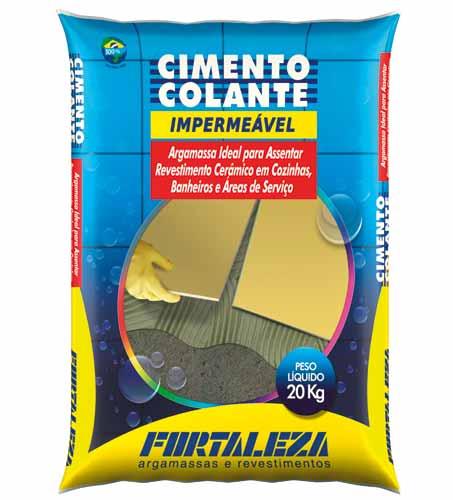 Com o cimento colante impermeável da Usina Fortaleza, é possível colocar p...