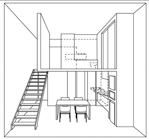 No térreo, foram retiradas as paredes que confinavam a sala de jantar entre ...