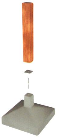 Na ligação entre os pilares e a fundação de concreto, utilizam-se placas ...