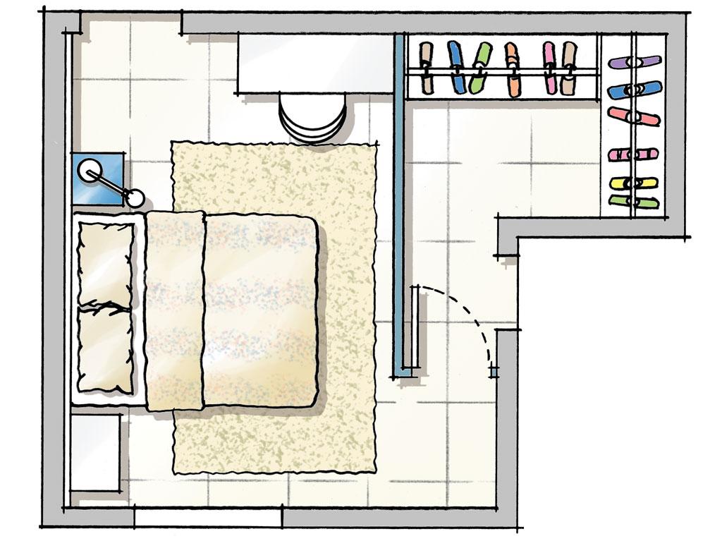 planta-parede-de-drywall-cria-closet-em-quarto-de-casal