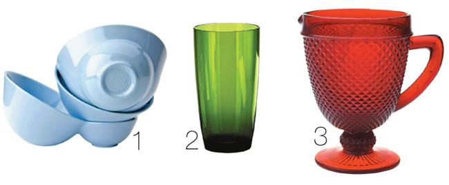 1. Bowls Droog de melamina com diferentes formatos. Na Decameron, o conjunto ...