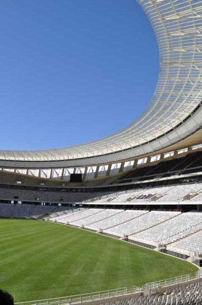 Mais uma vista do Estádio Moses Mabhida em Durban