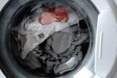 Saco cozinha carne na máquina de lavar