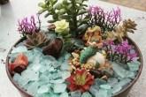 Jardim com sereia