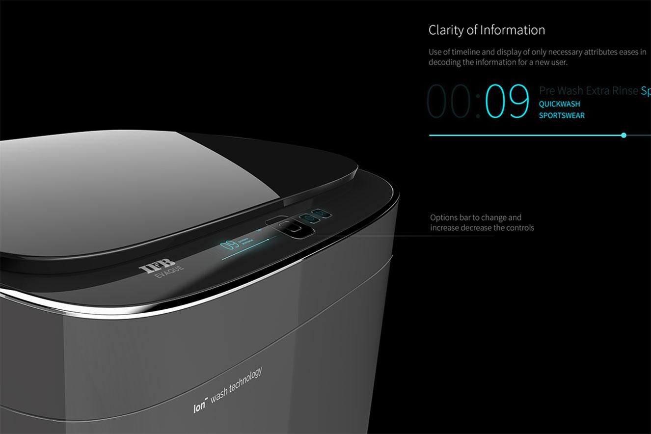 máquina de lavar evaque