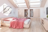 casa pequena quarto no sótão