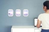 quadro janelinha do avião