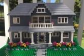 miniatura de casa de LEGO