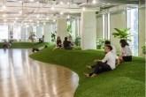 escritório com gramado
