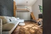 visão geral da sala do apartamento