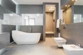 banheiros cinza