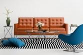 sofás de couro caramelo