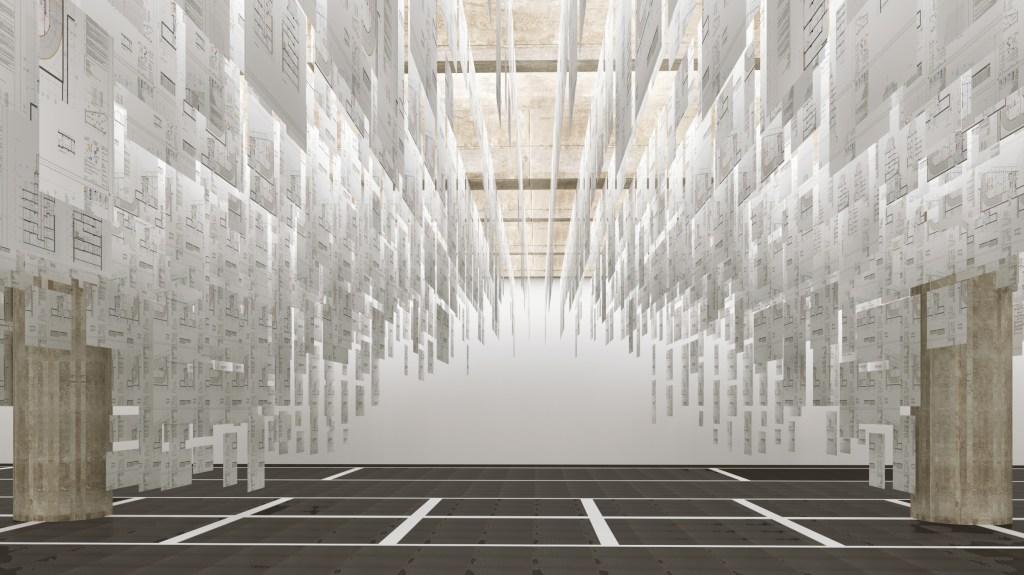 Instalação criada pelo arquiteto Adam Kurdahl e sua equipe do SPOL Architects