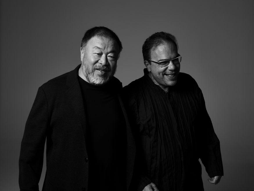 O artista Ai Weiwei e o curador Marcello Dantas