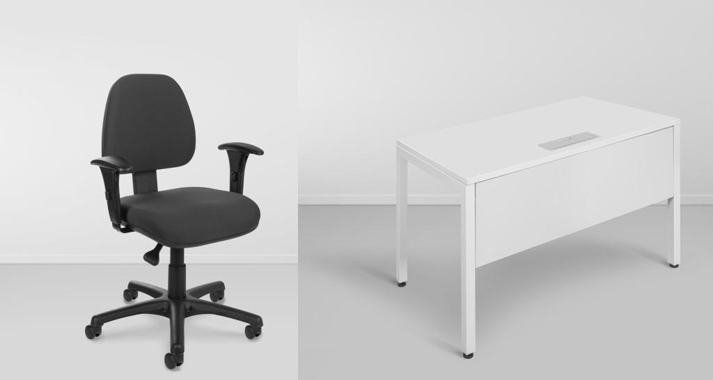 Cadeira e mesa de escritório