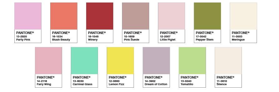 Paletas de cores primavera-verão 2021 da Pantone