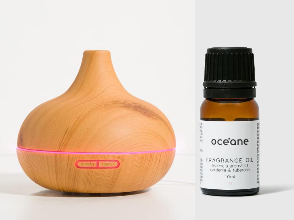 Difusor de ambientes e óleo essencial, da marca Océane