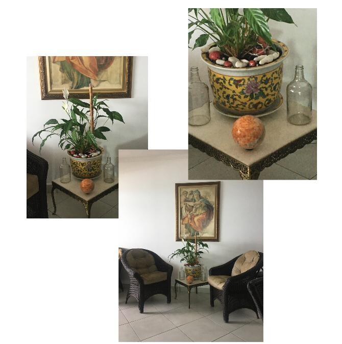 Esfera de jaspe laranja na decoração da casa