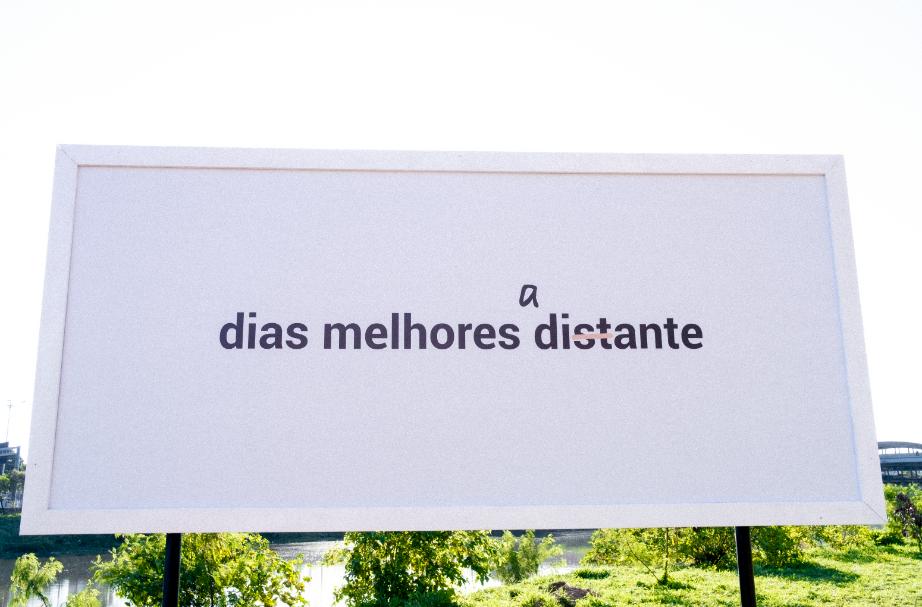 Instalação de Verena Smit na CicloFaixa da Marginal Pinheiros