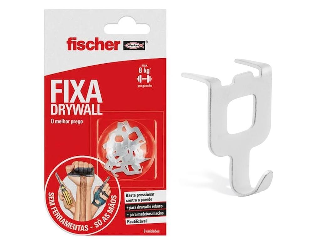 Gancho com garra para pendurar objetos em paredes do tipo drywall, da Fischer