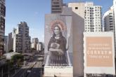 Intervenção artística: Empena desenvolvida por Hanna Lucatelli e Ryane Leão na avenida Santo Amaro nº 653