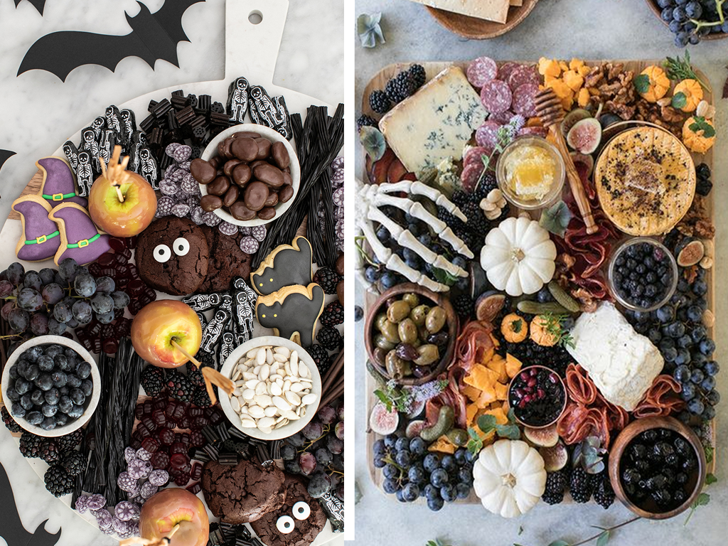 Tábua de doces e frios temática de halloween