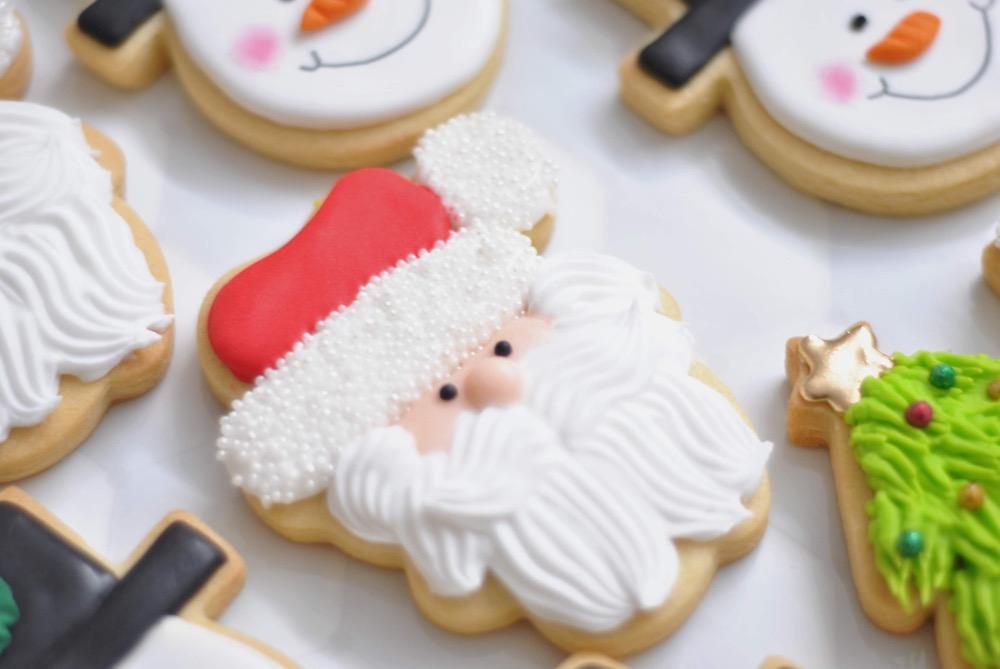 biscoito de natal em formato de papai noel