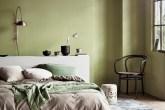quarto em tons de verde
