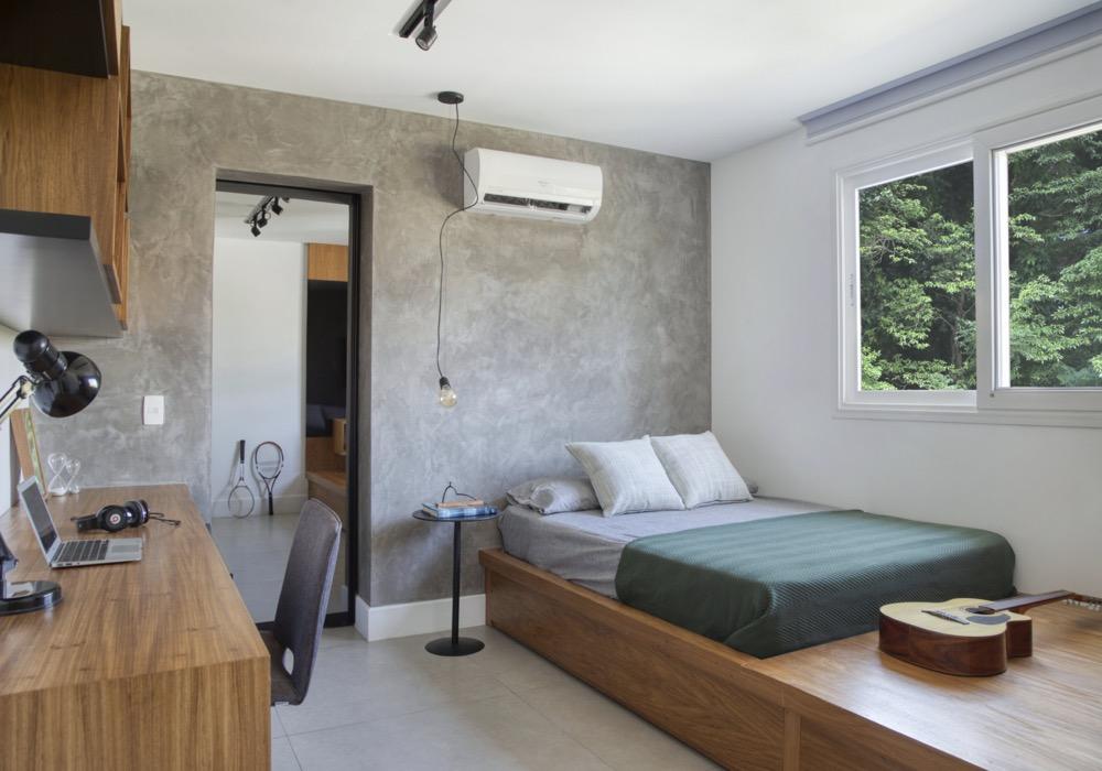 quarto com cama baixa