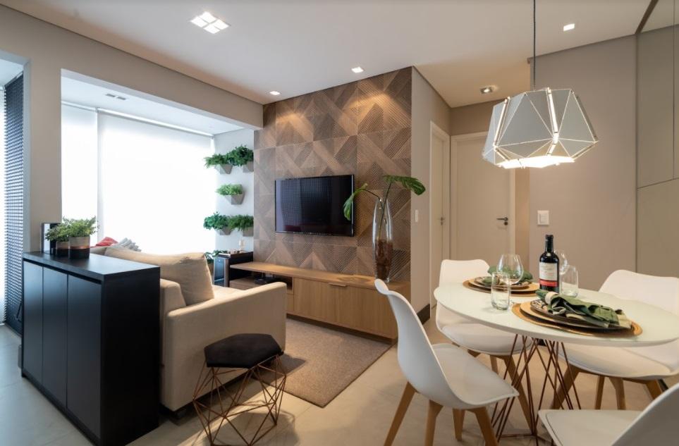 Apê pequeno, de 38 m², transforma-se em lar amplo e aconchegante