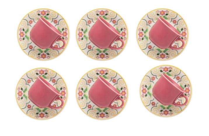 jogo de chá colorido