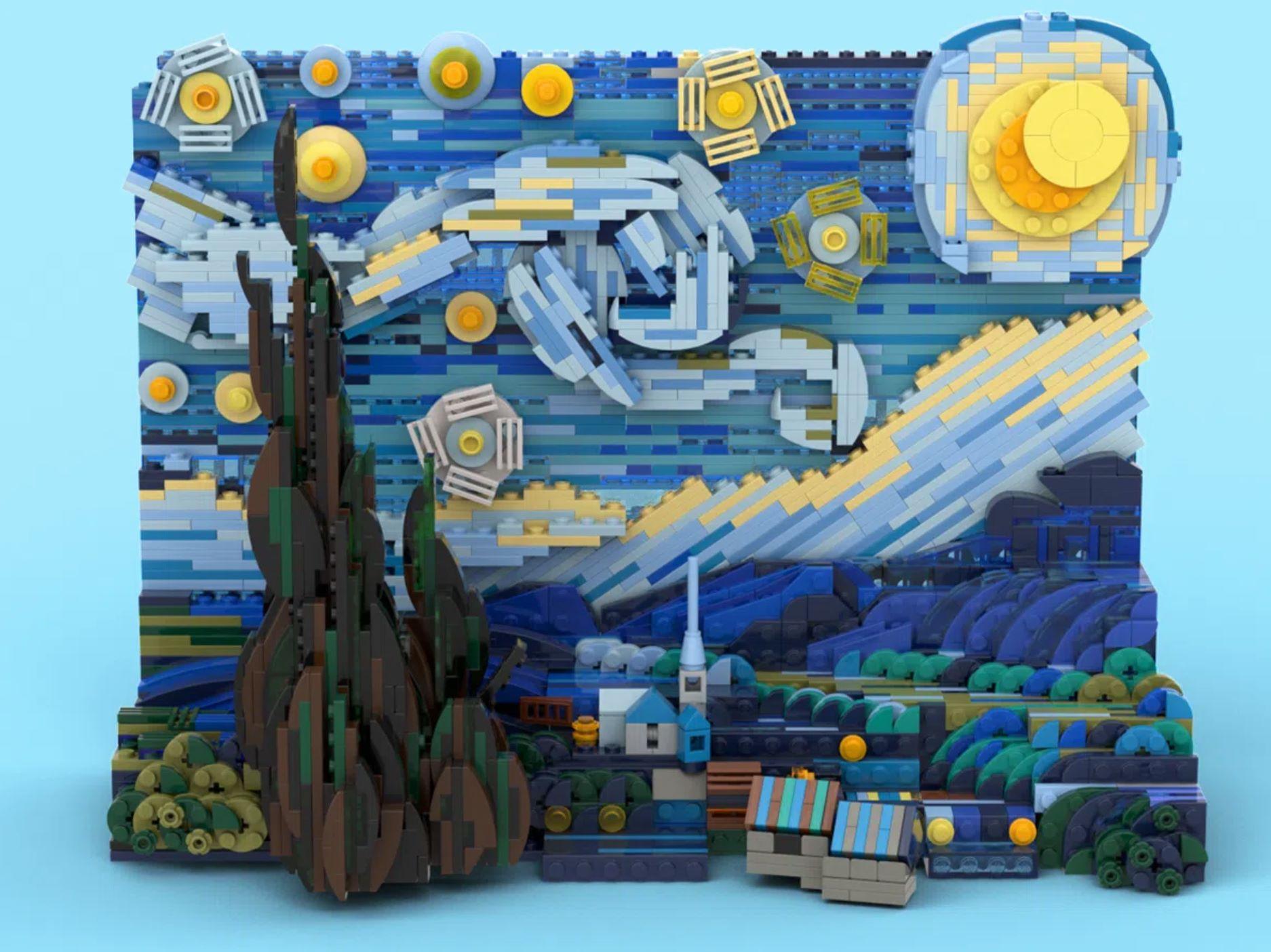 Noite Estrelada, de Van Gogh, ganha versão Lego