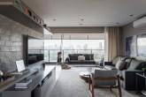 apartamento decorado com tons de cinza
