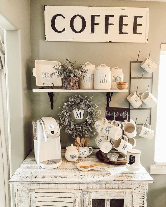 Dicas e Ideias Incríveis Para o Cantinho do Café