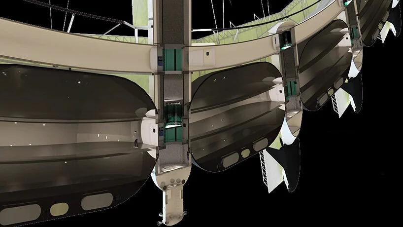 Render do projeto da estação espacial.