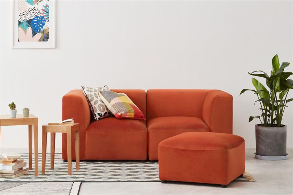 Sofá modular laranja