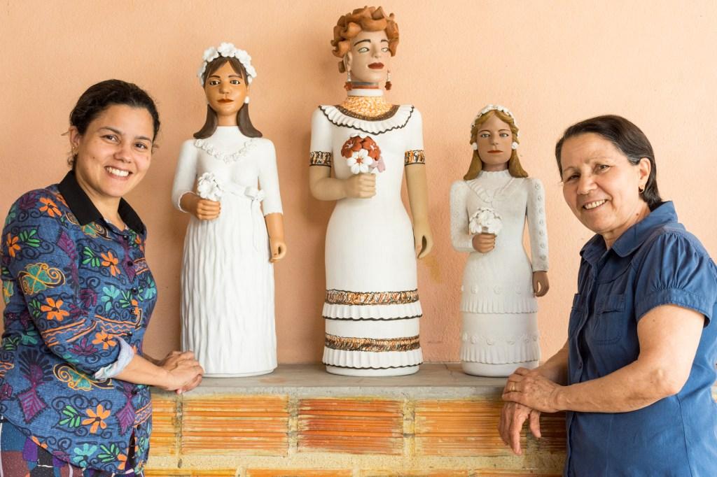 arte em cerâmica da artesã formada em Artes Plásticas Andreia Pereira